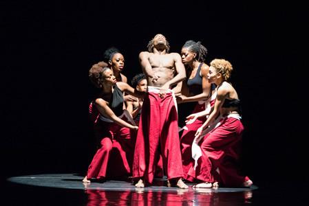 "DCDC dancers perform Stafford Berry's ""Wawa Aba,"" a staple of the HBCU tour. Photo credit: Scott Robbins"